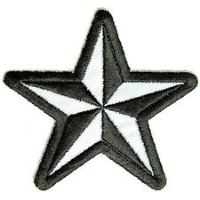 Embroidered Reflective Nautical Star Be Seen at Night Sew or Iron on Patch Biker