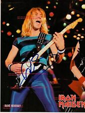IRON MAIDEN~Dave Murray~Signed~Photo~8x10~RP