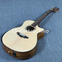 40'' Cutway Top Quality Solid Top Acoustic Guitar FKingwood Maple Back&side