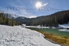 "Lac Rosiere, Winter, Skiing, Hiking, Courchevel 7""x5"" Framed Printed Photograph"