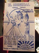 Partition El Originale voluttà del soir F Gabutti Music Sheet