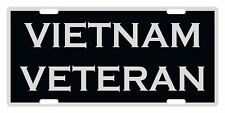 VIETNAM VETERAN Custom License Plate Emblem Patriotic Version