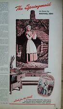 1946 Springmaid Fabrics Rockwell Kent art vintage ad