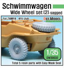 DEF. MODEL, WWII Schwimmwagen Wide Wheel set (2) , DW30032, 1:35