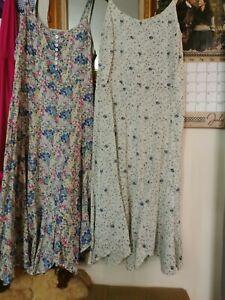 Womens Sleeveless Midi Dress Summer Beach Boho Holiday Floral Sundress Plus Size