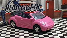 """WELLY VW VOLKSWAGEN NEW BEETLE CONVERTIBLE LOOSE CUSTOM """"PINK"""" COLLECTION SERIES"""