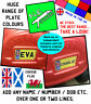 Personalised BACK kids Number Plate TO FIT Little Tikes Cozy Coupe TOY car ride