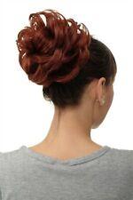 Postiche Cheveux Rose Dutt Chignon Touffue Volume Tresse Cuivré Brun Q840-35