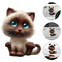 3D Accessories Cat  Funny Body Cute Car-styling Window Car Sticker Decals