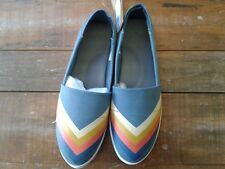 """Reef Women's """"Rose Print"""" Slip On Shoes Blue Size 9"""