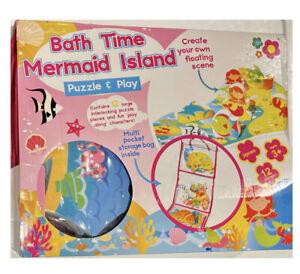 Bath Time Foam Puzzle & Play Toy MERMAID ISLAND 12-Piece Set NEW