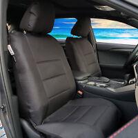 Black Future Canvas Airbag Seat Covers For Mitsubishi Triton Dual Cab MQ ML MN