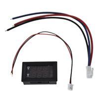 DC 100V 10A Voltmeter Amperemeter Blau + Rot LED Amp Dual Digital Volt Mete M5X8
