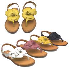 Ladies Leather Sandals Womens Slippers Summer Slip On Slider Mule Beach Cushion