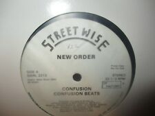 """1983 NEW ORDER Confusion 4 Mix US White Label Promo 12"""" Streetwise VG/VG"""