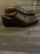 Paolo Vandini of Shoreditch London Mens Dark Brown Lace up Leather Shoes UK 10