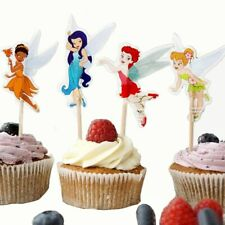 24pc Tinkerbell Cake Picks Cupcake Toppers Birthday Party Fairy Magic Flowers