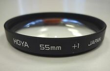 Two 55mm filters: Hoya Close-up +1; Ensign Star 4 . Both used v good condition