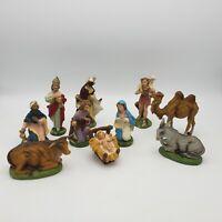 Set of 10 Vintage Depose Fontanini Italy Nativity Set # 29