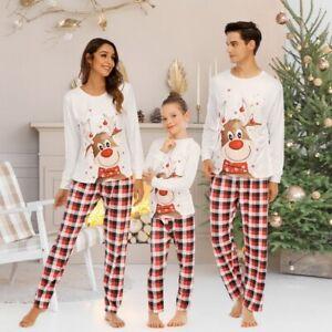 Christmas Family Matching Pyjamas Sleepwear PJs Set Festive Adult Kid Nightwear