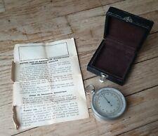 Barometre altimètre graduation GOULIER altimeter barometer ancien vintage