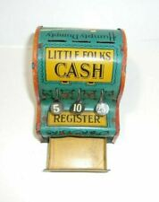 Vintage Little Folks Cash Register Tin Toy Nursery Rhymes