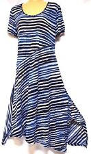 TS dress TAKING SHAPE plus sz XXS / 12 'Milly S/S Crushed Stripe' stretch NWT!