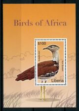 Liberia 2007 MNH Birds of Africa Kori Bustard Bustards 1v S/S II Stamps