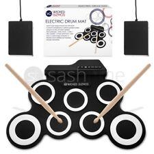 7 Pad Electronic Folding Drum Sticks 2 Foot Pedal Musical Learning Kit Kids Gift