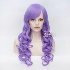Lolita Long 70CM Light Purple Curly Women Fashion Party Costume Wig Cosplay