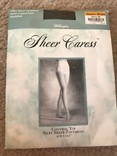 Worthington Silky Sheer Caress Pantyhose Control Top Queen Short Navy 29 NEW VTG