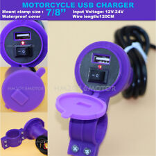 Motorcycle Phone Charger For Honda Gold Wing GL 1100 1200 1500 1800 Purple