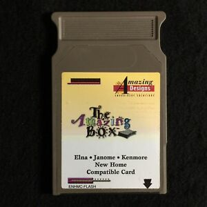 Amazing Box Rewritable Embroidery Designs Card Fits Janome Elna Kenmore New Home