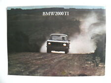 Brochure 1 feuille BMW 2000 TI de 03 / 1966