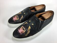Givenchy Skate Sneakers Black Rottweiler Leather Men shoe Size 40