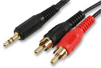 3.5MM(S) TO 2X PHONO - 2M GOLD . - Audio & Video - Cable Assemblies