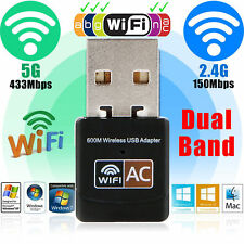 Dual Band 600Mbps Wireless 2.4GHz 5.8GHz USB WLAN WIFI Dongle Adapter Antenna