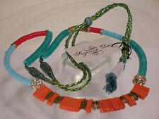 "Suzanna Dai Designer ""Paillette Sequins"" 36"" Necklace Style No.106NACoral"