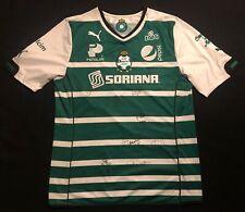 14/15 Authentic Puma Club Santos Laguna Mexico Team Signed Autographed Jersey