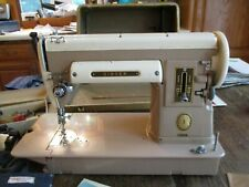 New ListingSinger Sewing Machine Vintage Model 301a Beige Foot Pedal Light Runs Smooth Nr