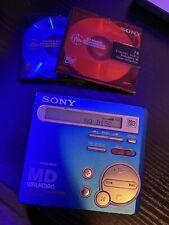 New listing Sony Md Walkman Mz-R70 MiniDisc Player Recorder W/ 2 Minidiscs