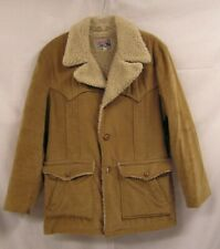 VINTAGE MEN'S LEE STORM RIDER HEAVY OVERCOAT WESTERN CUT SHERPA LINED SIZE 46
