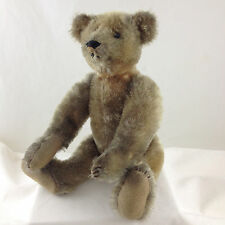 Ca. 1904-1907 IDEAL TEDDY BEAR, Shoebutton Eyes, 5 Claws, 13 Inches Tall