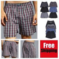 6 PACK Men Knocker Plaid Boxer Shorts Underwear Lot Trunk Cotton Brief S-3XL NEW