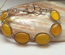 """Nice 13x18mm Yellow Oval Brazil Topaz Gemstone Jewelry Bracelet 7.5"""""""