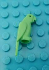 New Lego Solid Med GREEN Parrot Minifigure Pet Bird Jungle Zoo Animal  1st Beak