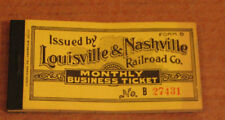 Vtg L&N LOUISVILLE AND NASHVILLE RAILROAD  Monthly Ticket Book