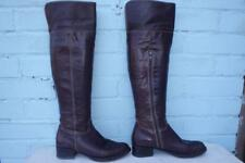 ~ BERTIE LEATHER BOOTS ~ Ladies Size 3 36 ~ SEXY OTK PULL ON BROWN LEATHER BOOTS