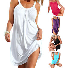 Women's Summer Sleeveless Evening Party Beach Dress Short Mini Dress Sundress