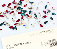 Genuine SWAROVSKI 4228 Foiled Xilion Navette Fancy Stone Crystals * All Colors